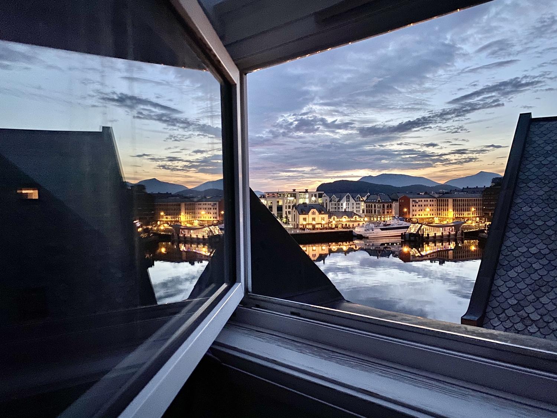 Mei nAusblick vom Scandic Hotel in Alesund