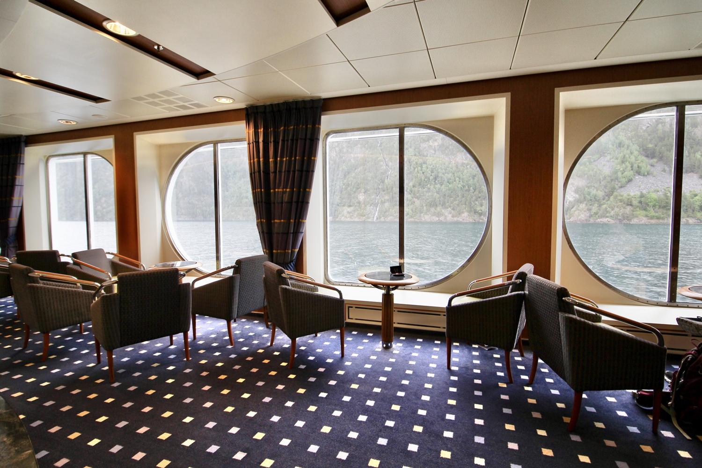 Lounge an Bord von MS Midnatsol