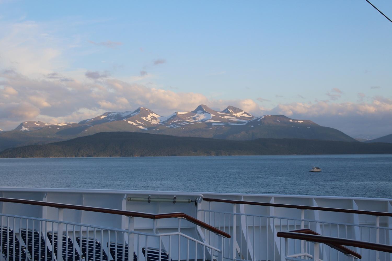 Der Moldefjord, aufgenommen an Bord von MS Finnmarken
