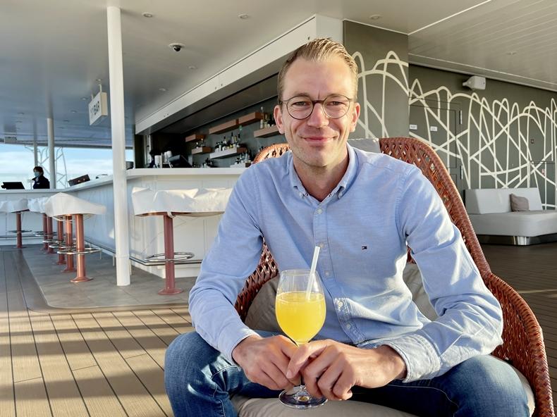 Martin Melzer an Bord von Mein Schiff