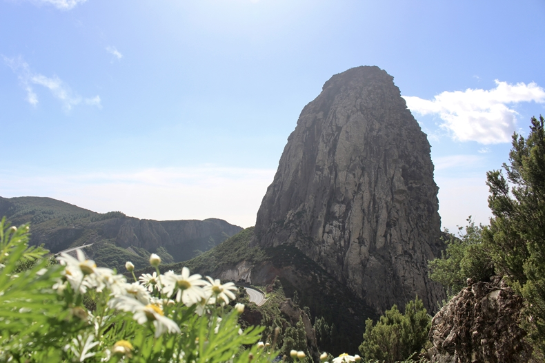 Der Roque de Agando auf la Gomera